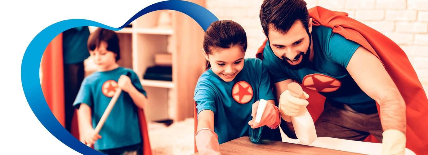 Haz que tus hijos se interesen en la limpieza del hogar