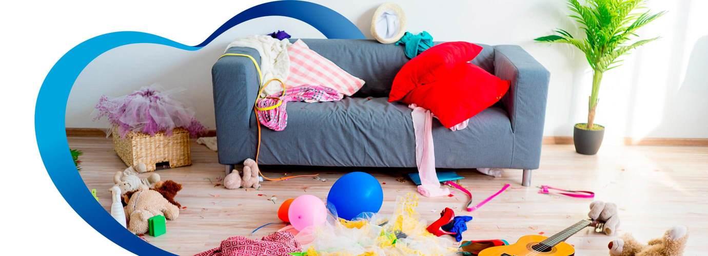 Consecuencias del desorden en el hogar