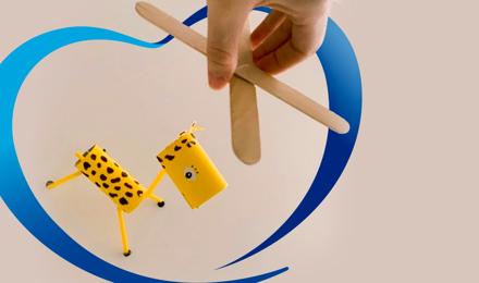 Crea una increíble marioneta de jirafa
